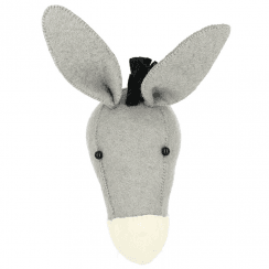Mini Donkey Felt Animal Wall Head