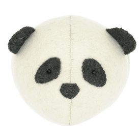 Mini Panda Felt Animal Wall Head
