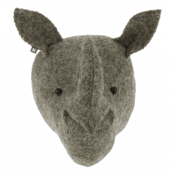 Mini Rhino Felt Animal Wall Head