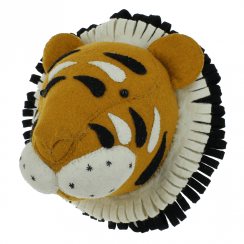 Mini Tiger Felt Animal Wall Head