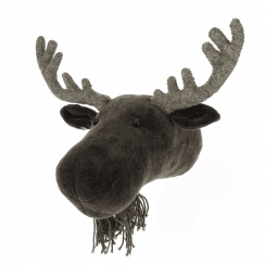 Moose Velvet Mini Animal Head, Wall Mounted