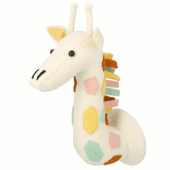 Natural Pastel Giraffe Mini Felt Animal Wall Head
