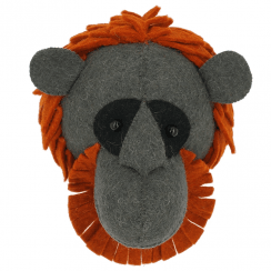 Orangutan Mini Felt Animal Head