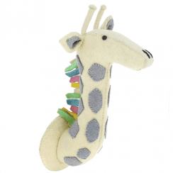 Pastel Safari Giraffe Felt Animal Head Wall Mounted