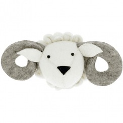 Ram Felt Animal Head, Wall Mounted