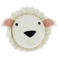 Sheep Mini Felt Animal Wall Head