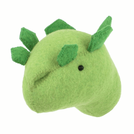 Stegosaurus Dinosaur Felt Animal Mini Wall Head
