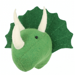 Triceratops Dinosaur Felt Animal Mini Wall Head