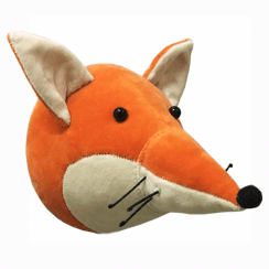 Velvet Fox Animal Mini Wall Head