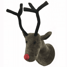 Velvet Reindeer Animal Mini Wall Head