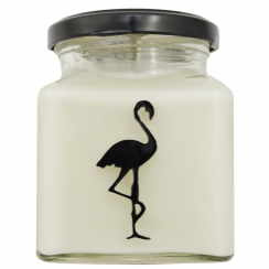 Black Tea & Almond Flamingo Candle