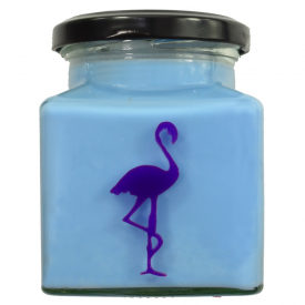 Chai Tea Latte Flamingo Candle