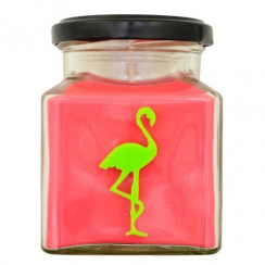 Green Apples Flamingo Candle