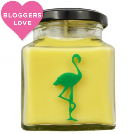 Green Tea & Lemon Flamingo Candle