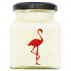 Kir Royale Cocktail Flamingo Candle