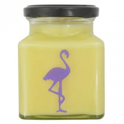 Lemon Curd High Tea, Flamingo Candle