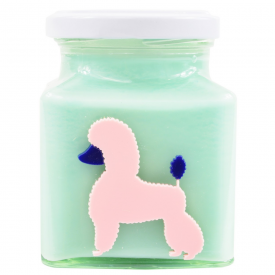 Peaches & Cream Poodle Candle