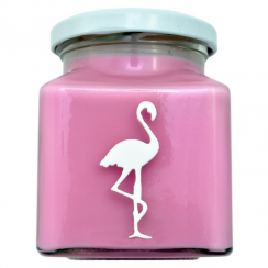 Pink Ribbon Special Edition Flamingo Candle