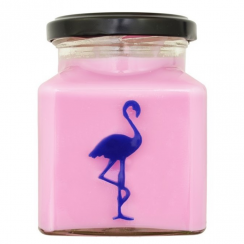 Raspberry & Salted Caramel Flamingo Candle