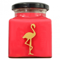 Rhubarb & Pear Flamingo Candle