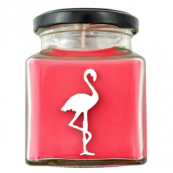 Strawberries 'n' Champagne Flamingo Candle