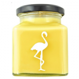 Tropical Coconut Milk & Honey Flamingo Candle