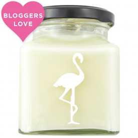 Vanilla Milk Bottles, Candy Shop Flamingo Candle