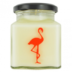 White Lilac & Rhubarb Flamingo Candle