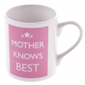 Mother Knows Best Pink Mug