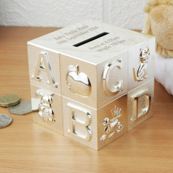 Alphabet Engraved Money Box
