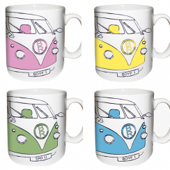 Camper Van Mug in Assorted Colours
