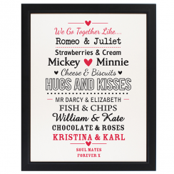 Couples Poster Print Frame