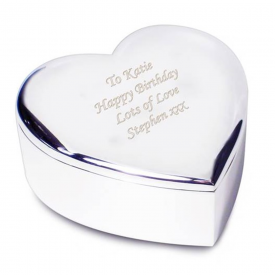 Heart Engraved Trinket Box