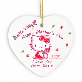 Hello Kitty Cherry Bloom Ceramic Heart Decoration