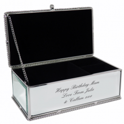 Mirrored Jewellery Box, Assorted Designs