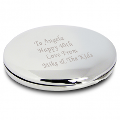 Silver Round Compact Mirror
