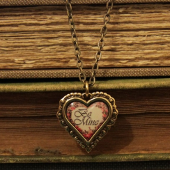 Be Mine Vintage Heart Necklace