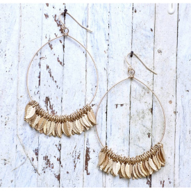 Betta Gold Hoop Drop Earrings