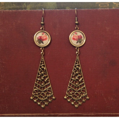 Rose Vintage Chandelier Earrings