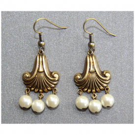 Swirl Drop Vintage Earrings