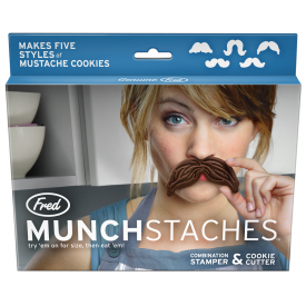 Munchstache Set of 5 Cookie Cutters/ Stamps