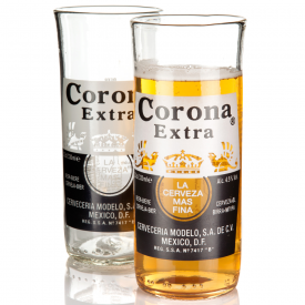 Recycled Corona Extra Beer Bottle Glasses x 2