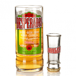 Recycled Desperados Mexican Beer Bottle Glass & Shot