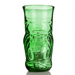 Recycled Lucky Buddha Beer Glass