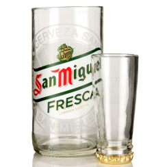 San Miguel Upcycled Glass & Shot Set