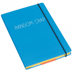 A5 Random Crap Notebook Blue