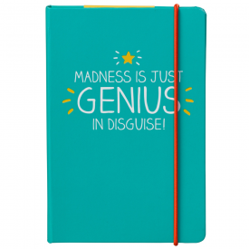 A6 Madness is Just Genius in Disguise Notebook
