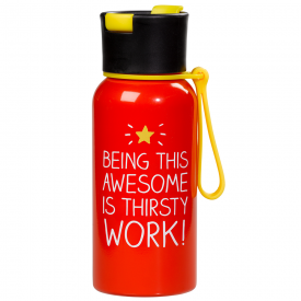 Being This Awesome is Thirsty Work Water Bottle