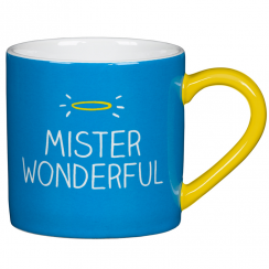 'Mister Wonderful' Blue Mug