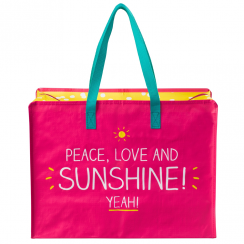 Peace, Love And Sunshine Medium Shopper Bag